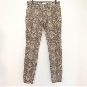 Free People Boho Paisley Printed Corduroy Pants